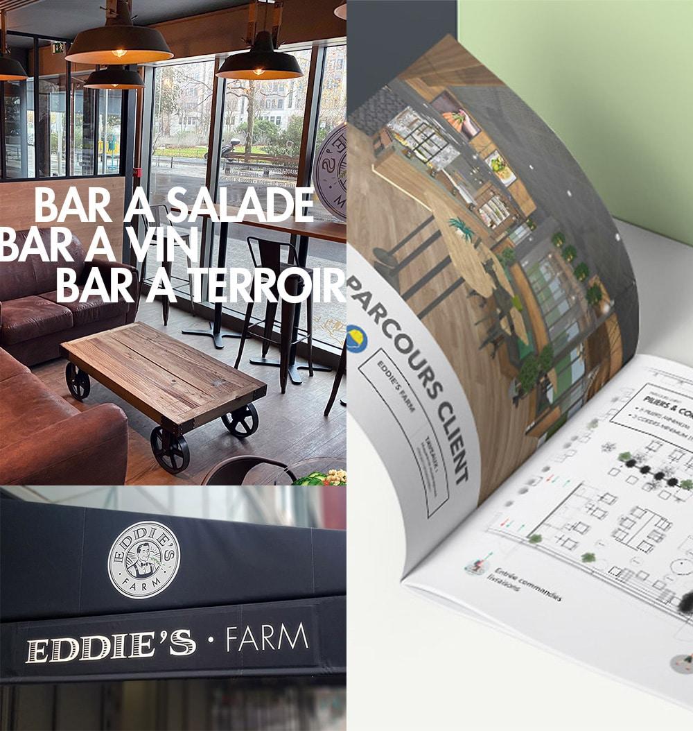 Eddies Farm Parcours Client-Design D'espace-habillage Instore