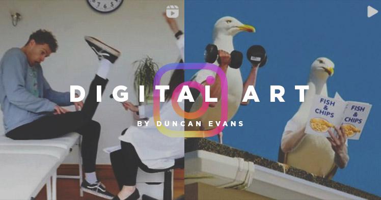 L'ART DIGITAL PERCHÉ DE DUNCAN EVANS @CURLYKIDLIFE.